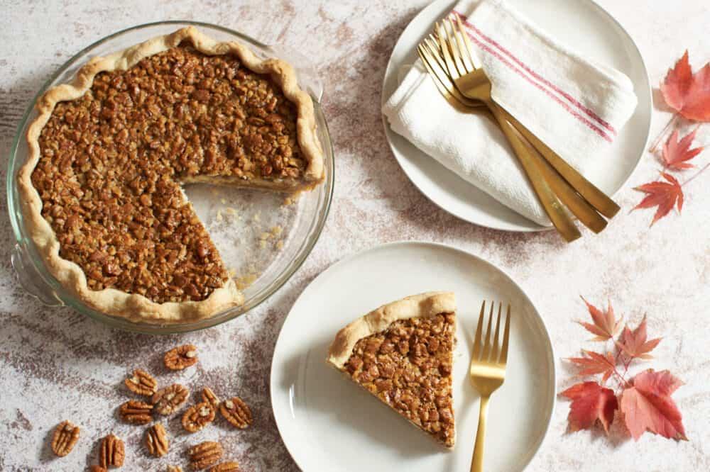 Pecan cream cheese pie
