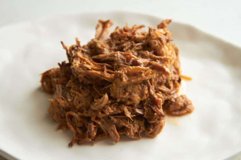 A plate of pulled pork