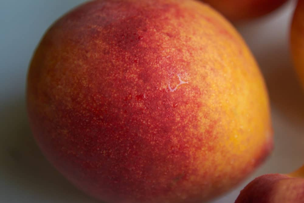 Closeup of a fresh peach