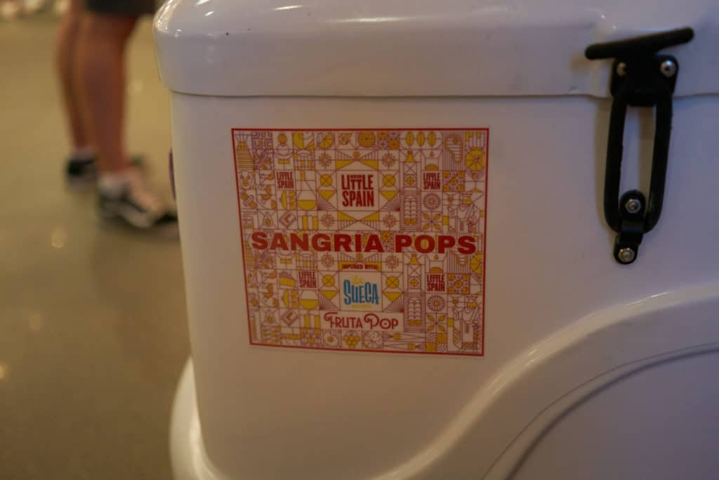 Sangria popsicle cart at Mercado Little Spain.