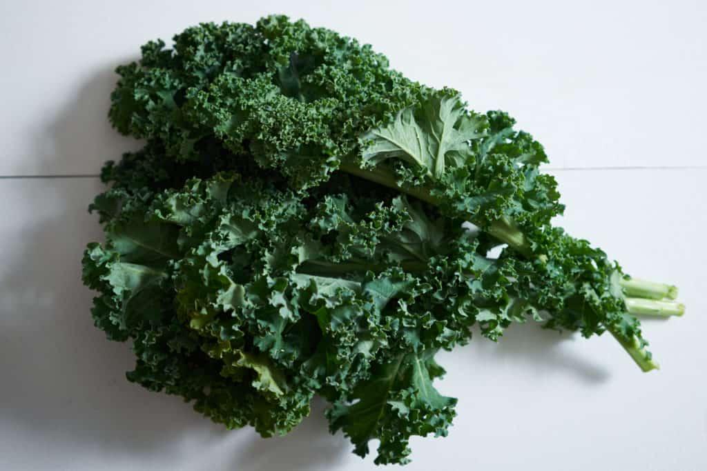 A few stalks of fresh kale.