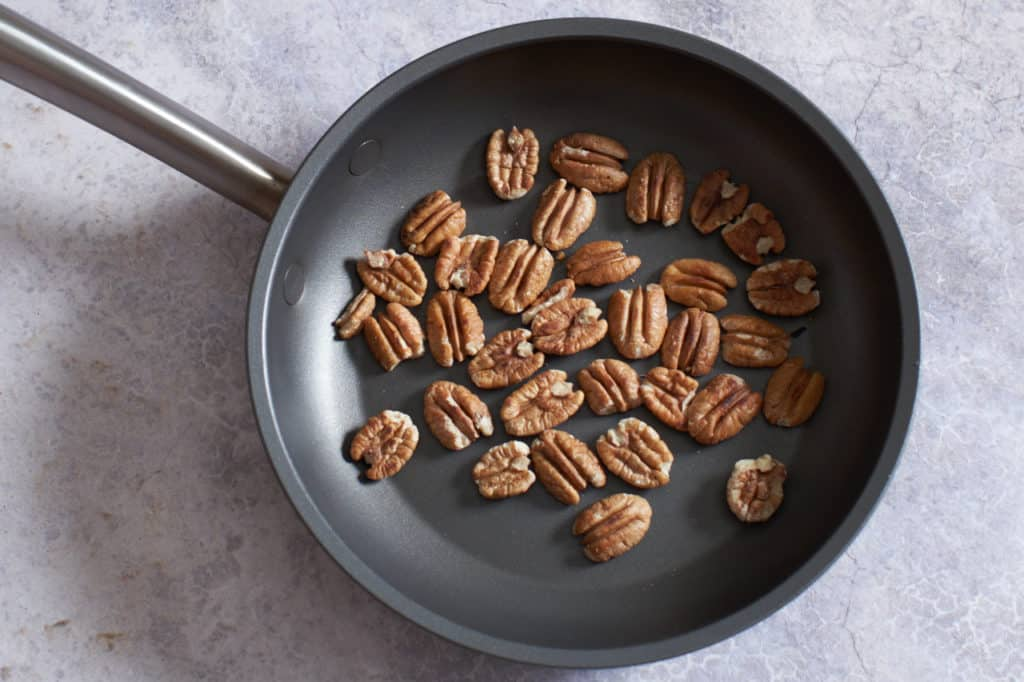 Pecans in a skillet