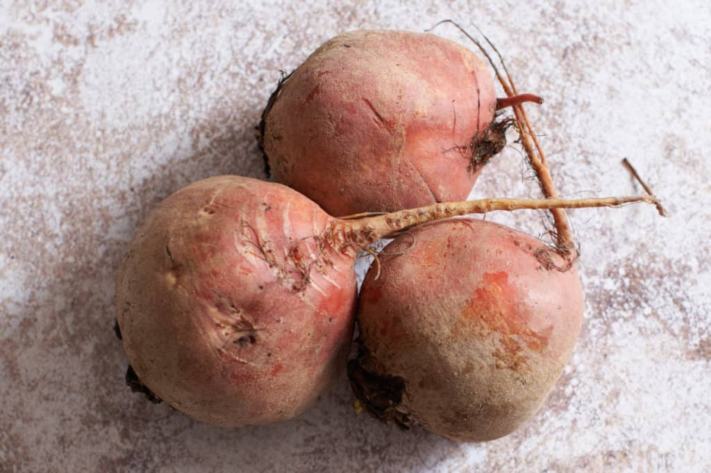 three golden beets