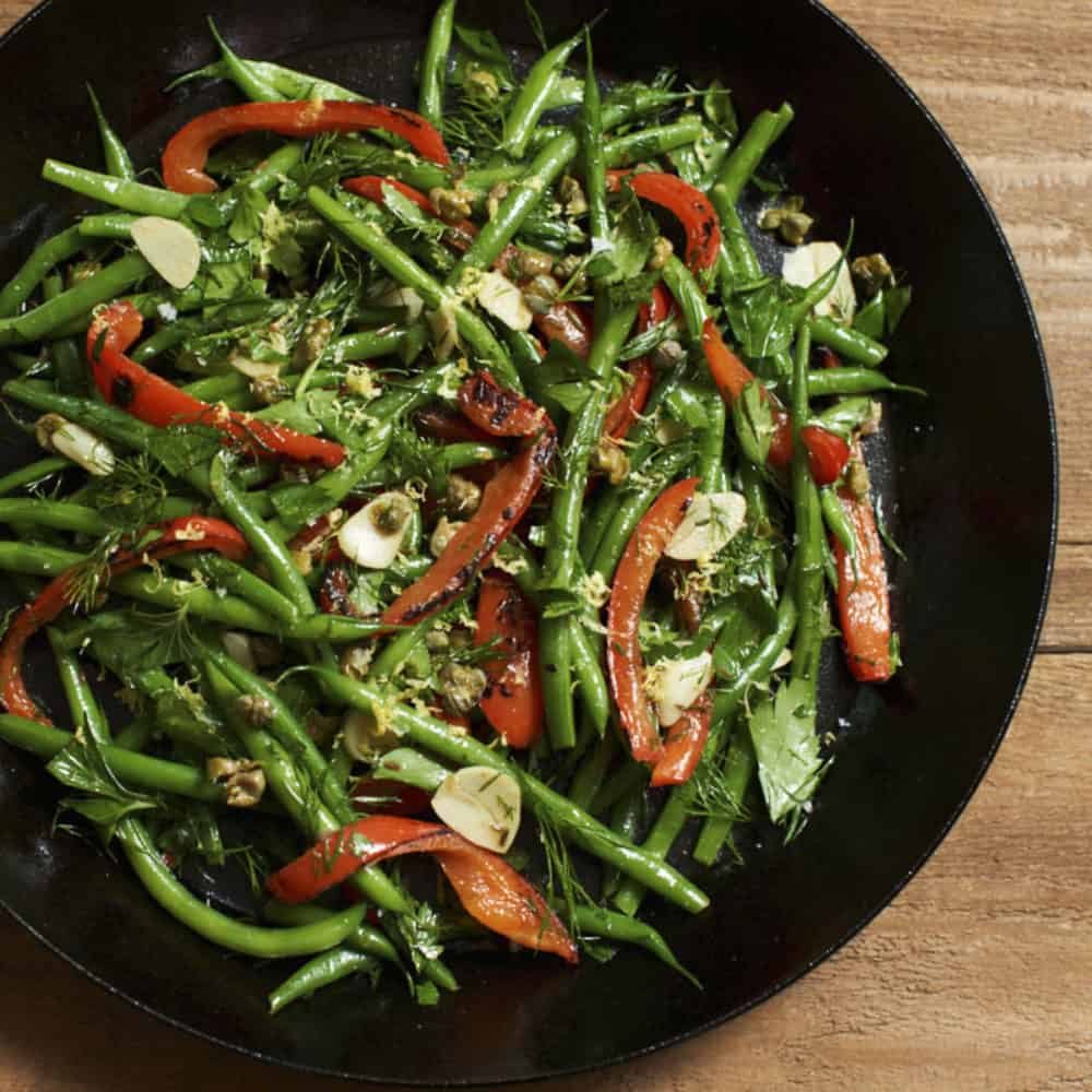 green bean salad with herbs